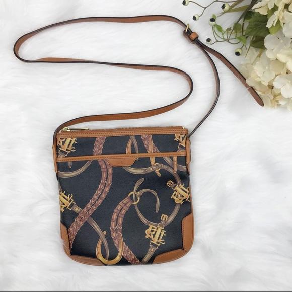 2a7a14e95a Lauren Ralph Lauren Handbags - RALPH LAUREN Brown Caldwell Equestrian  Crossbody